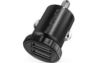 Мобильные телефоны RavPower Mini Dual USB Car Charger 24W 4.8A with iSmart 2.0 Charging Tech (RP-PC031)