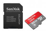 Карты памяти и кардридеры SanDisk 64 GB microSDXC Android Ultra + SD adapter SDSDQUAN-064G-G4A