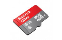 Карты памяти и кардридеры SanDisk 8 GB microSDHC Android Ultra + SD adapter SDSDQUAN-008G-G4A