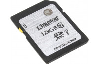 Карты памяти и кардридеры Kingston 128GBSDHC Class 10 UHS-I R45MB/s SD10VG2/128GB