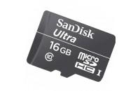 Карты памяти и кардридеры SanDisk 16 GB microSDHC Ultra UHS-I SDSDQL-016G-G35