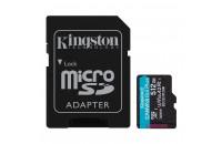 Kingston microSDXC 512GB UHS-I U3 A2 V30 Canvas Go Plus + SD Adapter (SDCG3/512GB)