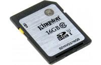 Карты памяти и кардридеры Kingston 16 GB SDXC class 10 UHS-I SD10VG2/16GB