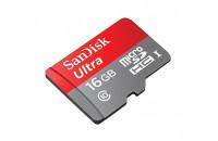 Карты памяти и кардридеры SanDisk microSDHC 16GB Mobile Ultra + SD Adapter (SDSQUNC-016G-GN6MA)