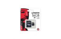 Карты памяти и кардридеры Kingston 16 GB microSDHC Class 10 UHS-I SDC10G2/16GBSP