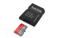Карты памяти и кардридеры SanDisk microSDHC 64GB Mobile Ultra Class 10 + SD Adapter (SDSQUNC-064G-GN6MA)