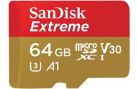 Карты памяти и кардридеры SanDisk microSDXC 64GB UHS-I U3 Extreme Action A1 + SD Adapter (SDSQXAF-064G-GN6AA)