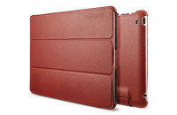 SGP Leather Case Leinwand Series Vegetable Red for iPad 4/iPad 3 (SGP09163)