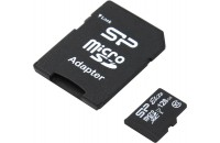 Карты памяти и кардридеры Silicon Power 128 GB microSDXC UHS-I Elite + SD adapter SP128GBSTXBU1V10-SP