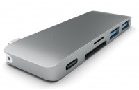 Аксессуары для компьютерной техники Satechi Type-C USB 3.0 Passthrough Hub Space Gray (ST-TCUPM)