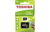 Карты памяти и кардридеры Toshiba microSDXC 256GB Exceria M203 Class 10 UHS-I + SD Adapter (THN-M203K2560EA)