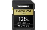 Карты памяти и кардридеры Toshiba SD-Card 128GB EXCERIA PRO N502 UHS-II U3 Gold (THN-N502G1280E6)