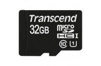 Карты памяти и кардридеры Transcend 32GB MicroSDHC (Class 10) UHS-I Premium