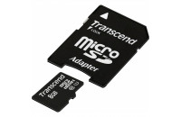 Карты памяти и кардридеры Transcend 8GB MicroSDHC (Class 10) UHS-I Premium + SD adapter (TS8GUSDU1)