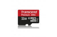 Карты памяти и кардридеры Transcend microSDHC 32GB Class 10 UHS-I (TS32GUSDCU1)