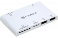 Карты памяти и кардридеры Transcend TS-RDP7W white