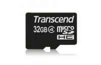 Карты памяти и кардридеры Transcend 32GB MicroSDHC (Class4)