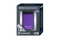 Жесткие диски, SSD 1 TB Transcend TS1TSJ25H3P StoreJet 25 SATA USB 3.0 Anti-Shock