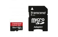 Карты памяти и кардридеры Transcend 128GB MicroSDXC (Class 10) UHS-I Premium + SD adapter (TS128GUSDU1)