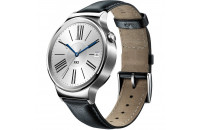 HUAWEI Watch (Stainless Steel with Black Leather Strap)
