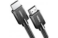 Кабели аудио-видео UGREEN HD135 HDMI 2.1 (AM/AM) 8K Round Cable with Braided 1m Gray