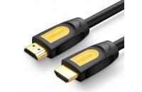 Кабели аудио-видео UGREEN HD101 HDMI 2.0 (AM/AM) Round Cable 1 m Yellow/Black