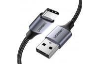 Кабели и зарядные уст-ва UGREEN US288 USB-A - Type-C Cable Aluminum Braid 1.5 m Black