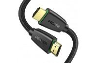 Кабели аудио-видео UGREEN HD118 HDMI 2.0 (AM/AM) High-End Cable Nylon Braid 1.5 m Black