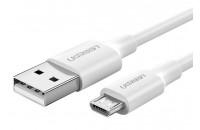 Кабели и зарядные уст-ва UGREEN US289 USB-A - Micro USB Cable 1.5 m White