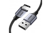 Кабели и зарядные уст-ва UGREEN US288 USB-A - Type-C Cable Aluminum Braid 2 m Black