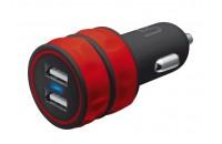 Кабели, зарядные уст-ва, аккумуляторы Urban Revolt Dual Smart Car Charger Red (20157)