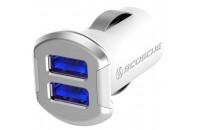 Кабели и зарядные уст-ва Scosche reVOLT Dual USB Car Charger 12W (2.4A) Silver (USBC242MSR)