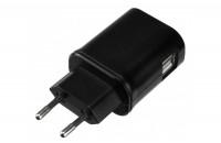 Кабели, зарядные уст-ва, аккумуляторы Kit EU 2xUSB Mains Charger 3.1A Black (USBMCEU3A)