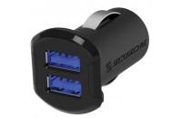 Кабели, зарядные уст-ва, аккумуляторы Scosche reVOLT Dual USB Car Charger 12W (2.4A) Black (USBC242M)