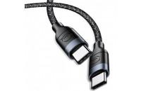 Кабели и зарядные уст-ва Usams Type-C to Type-C  U31 Fast Charging Cable 1.2m Black (US-SJ400)