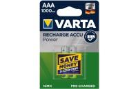 Аккумуляторы VARTA RECHARGEABLE ACCU AAA 1000mAh BLI 2 NI-MH