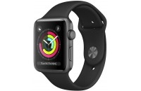 Смарт-часы Apple Watch Series 3 GPS 42mm Space Gray Aluminum Case with Black Sport Band (MTF32)